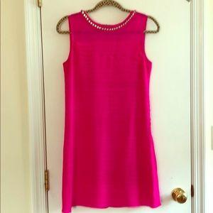 Bright pink shoshanna dress